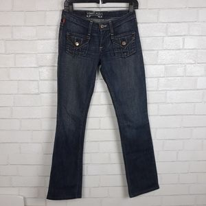 Robin's Jeans Gold Angel Wings Studded Jeans B17